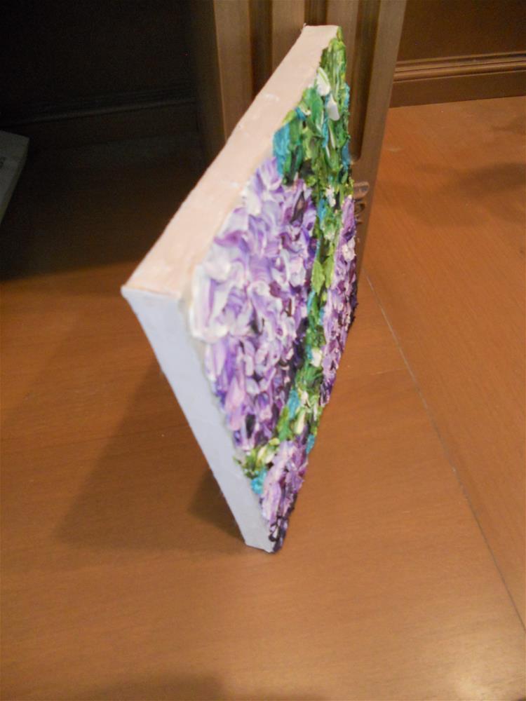 """""""Impasto Flowers, Hydrangea"""" original fine art by Pamela Ross"""