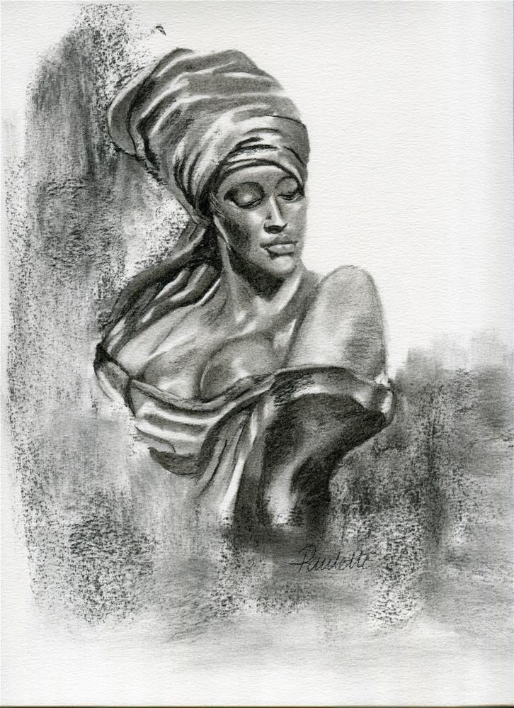 """Nubian Girl"" original fine art by Paulette Farrell"