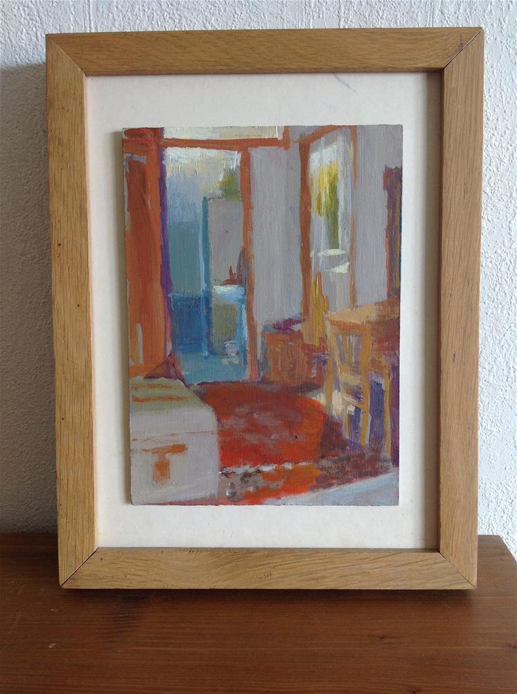 """""""Entrance room, morning"""" original fine art by Christine Bayle"""