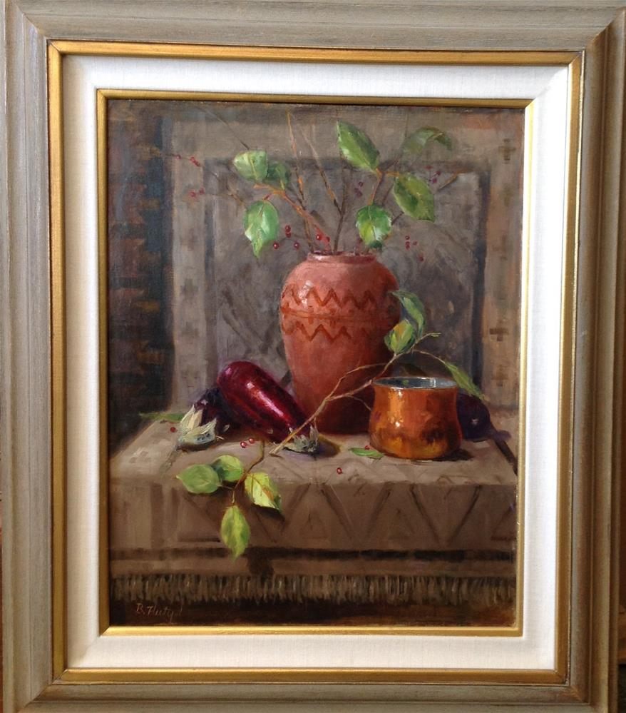 """Garden Reflection"" original fine art by Barbara Fluty"