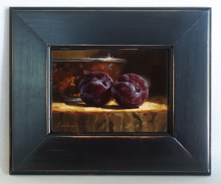 """""""Plums And Copper"""" original fine art by David Capalungan"""