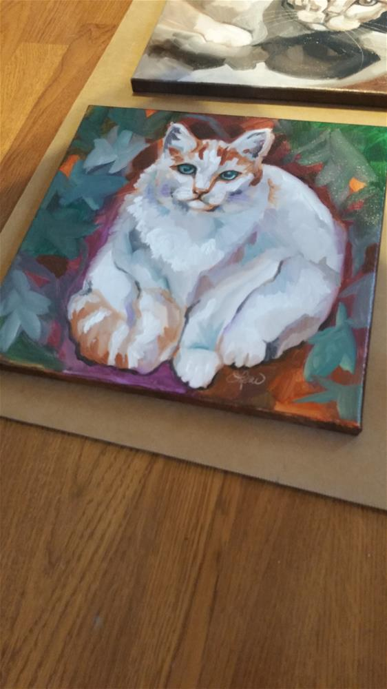 """Woodsy Kitty"" original fine art by Leni Tarleton"
