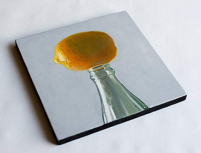 """Lemon Bottle"" original fine art by Lauren Pretorius"
