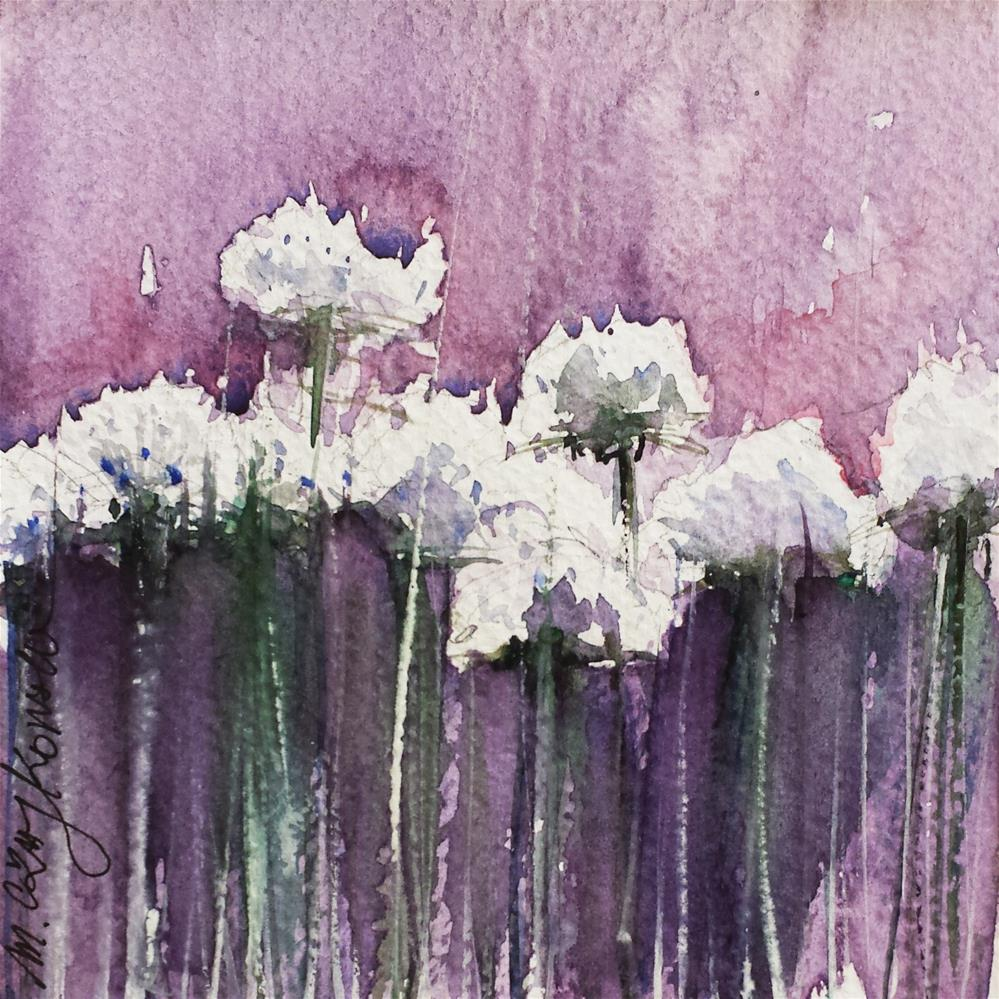 """Daisies"" original fine art by Marlena Czajkowska"