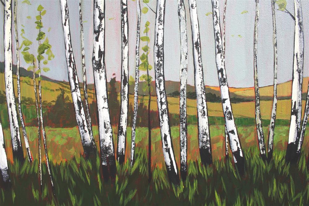 """""""The Last Birch Line"""" original fine art by Sage Mountain"""