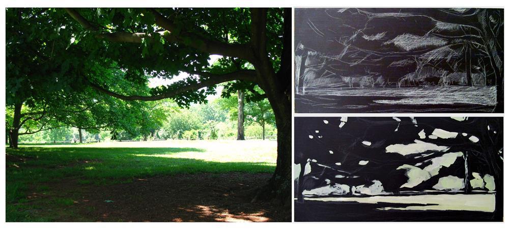 """Summer's Shade At Monticello"" original fine art by Joanna Bingham"