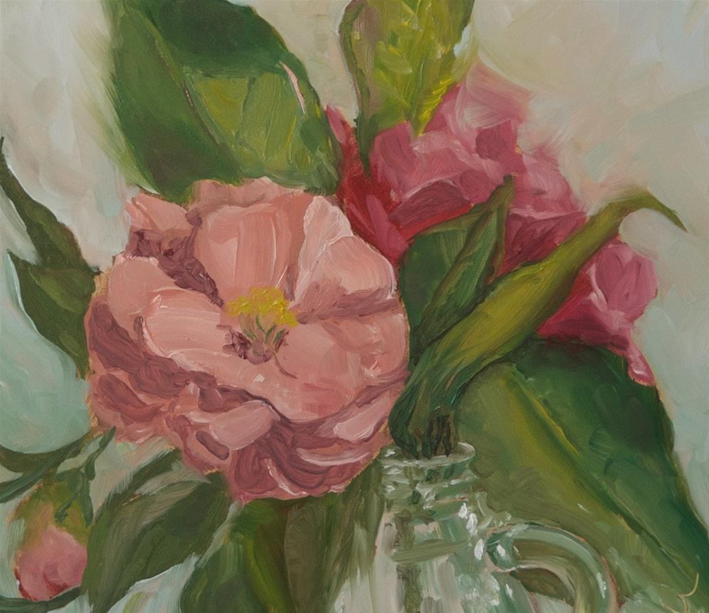 """Camellia Pink"" original fine art by Jan Jackson"