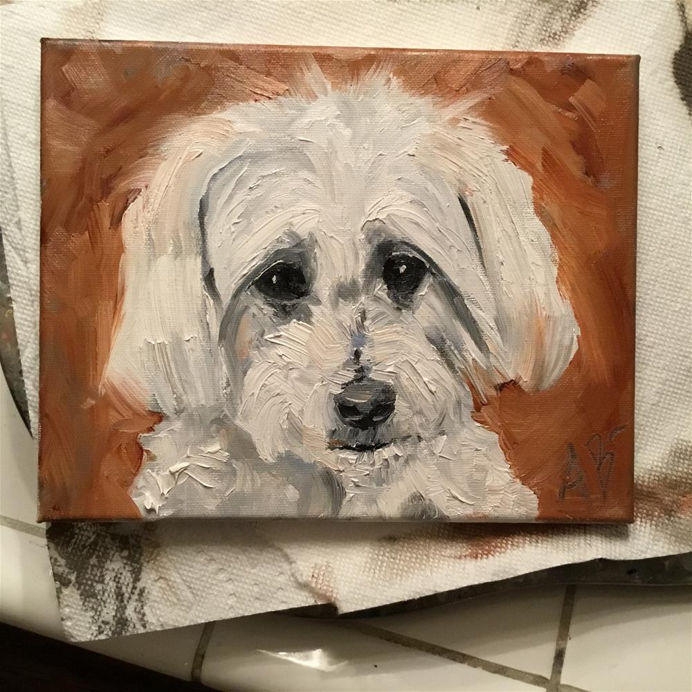 """Portrait of Flynn"" original fine art by Annette Balesteri"