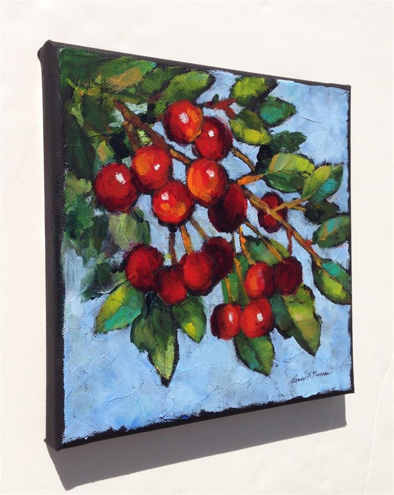 """It's the Berries"" original fine art by Nancy F. Morgan"