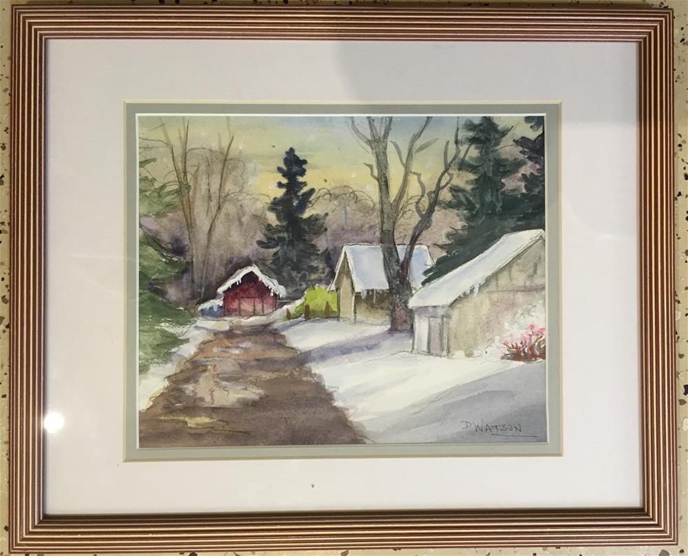 """Snow Study"" original fine art by Deb Watson"