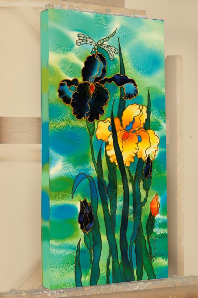 """""""Two Irises"""" original fine art by Yelena Sidorova"""