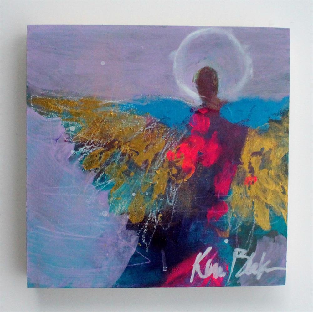 """""""Wings Unfurling """" original fine art by Kerri Blackman"""