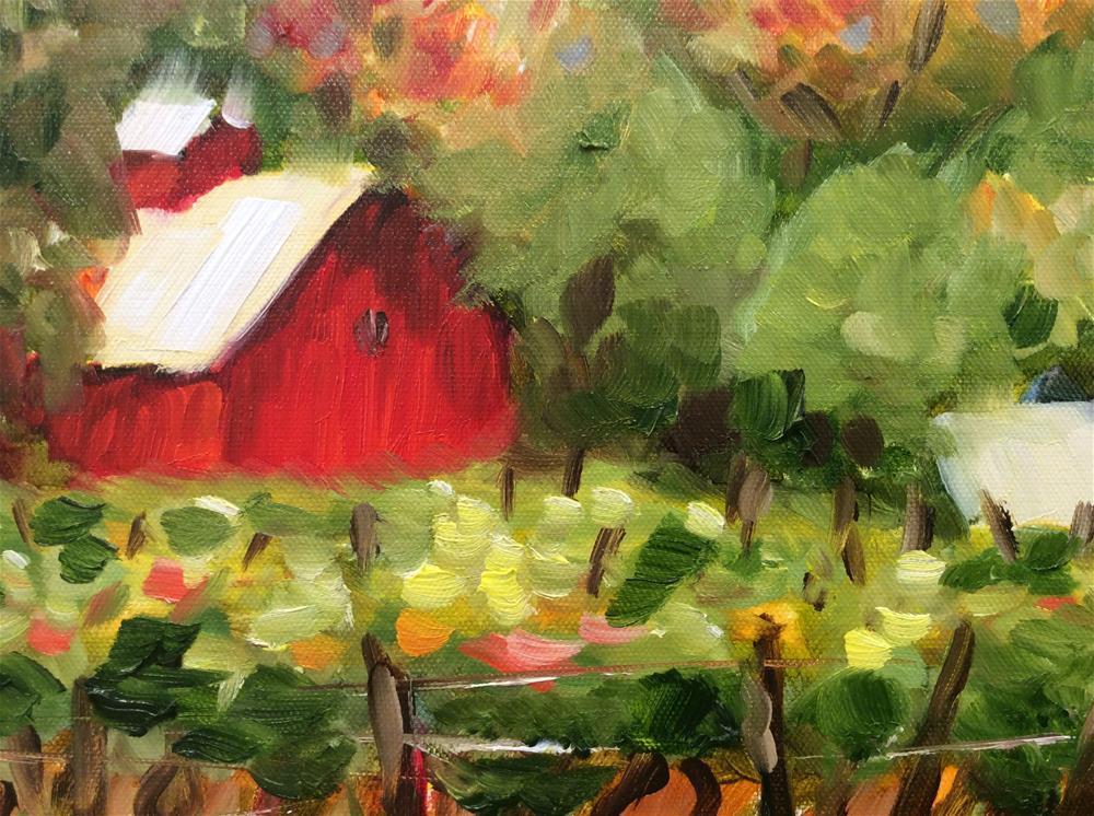 """Saginaw Michigan Vineyard"" original fine art by Molly Rohrscheib Hathaway"