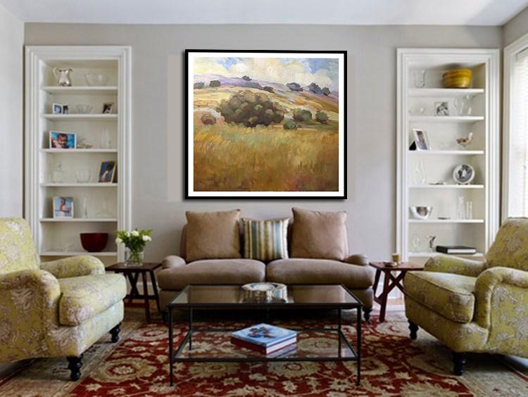 """Oaks in Napa"" original fine art by Sally Rosenbaum"