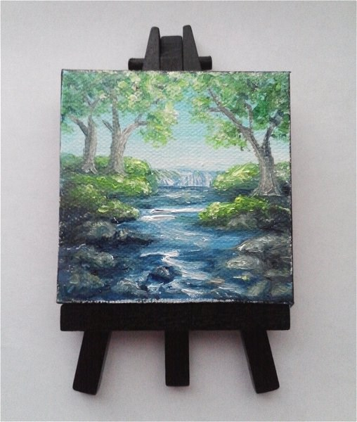 """Waterfall"" original fine art by Camille Morgan"