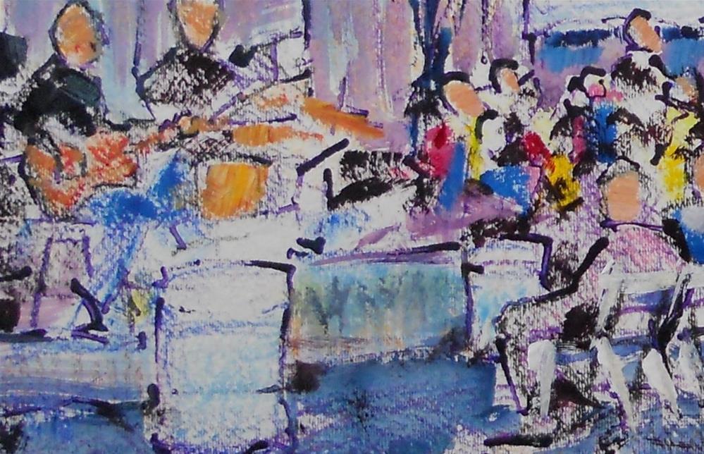 """""""Music In The Street by Larry Lerew 120915"""" original fine art by Larry Lerew"""
