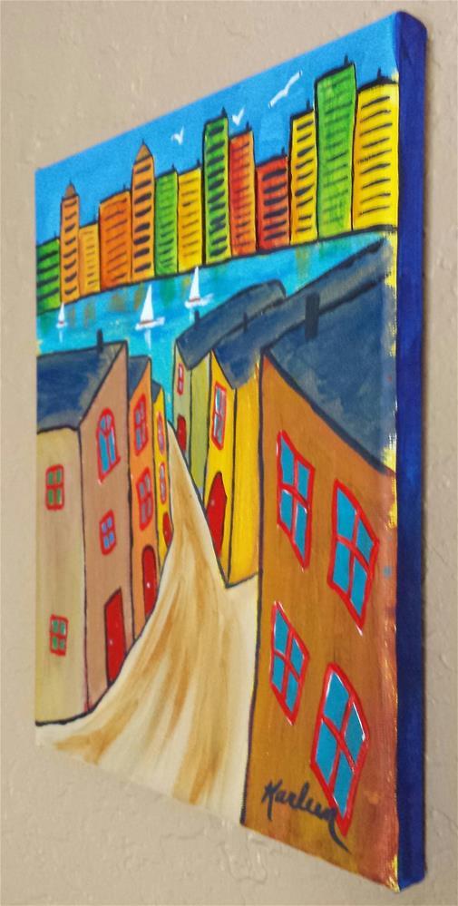 """The Way to the Riverside"" original fine art by Karleen Kareem"