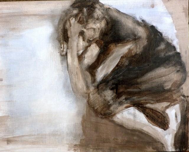 """liegende Figur  - 2 / lying figure - 2"" original fine art by Mila Plaickner"