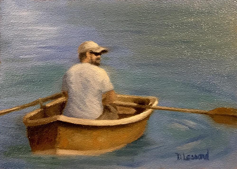 """Rower #1612"" original fine art by Dee Lessard"