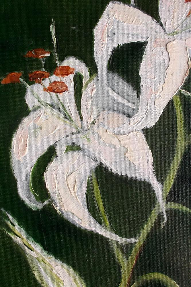 """Casablanca Lilies"" original fine art by lynne french"
