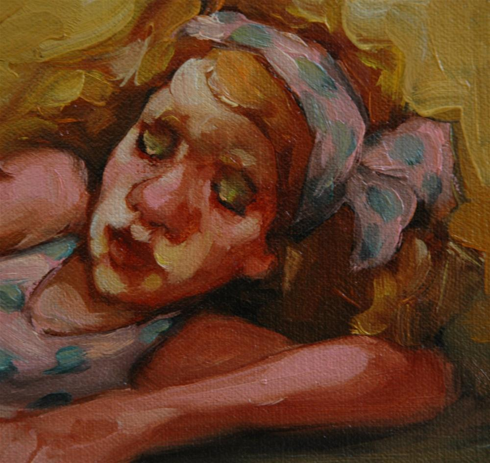 """Lady Lay"" original fine art by Kayleen Horsma"