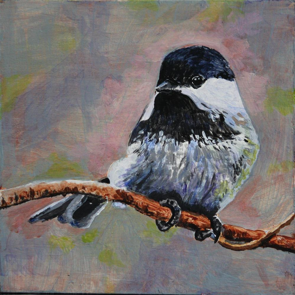 """Chickadee 2"" original fine art by Terri-Anne Barge"