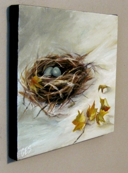 """The Art of Nest Building"" original fine art by ~ces~ Christine E. S. Code"
