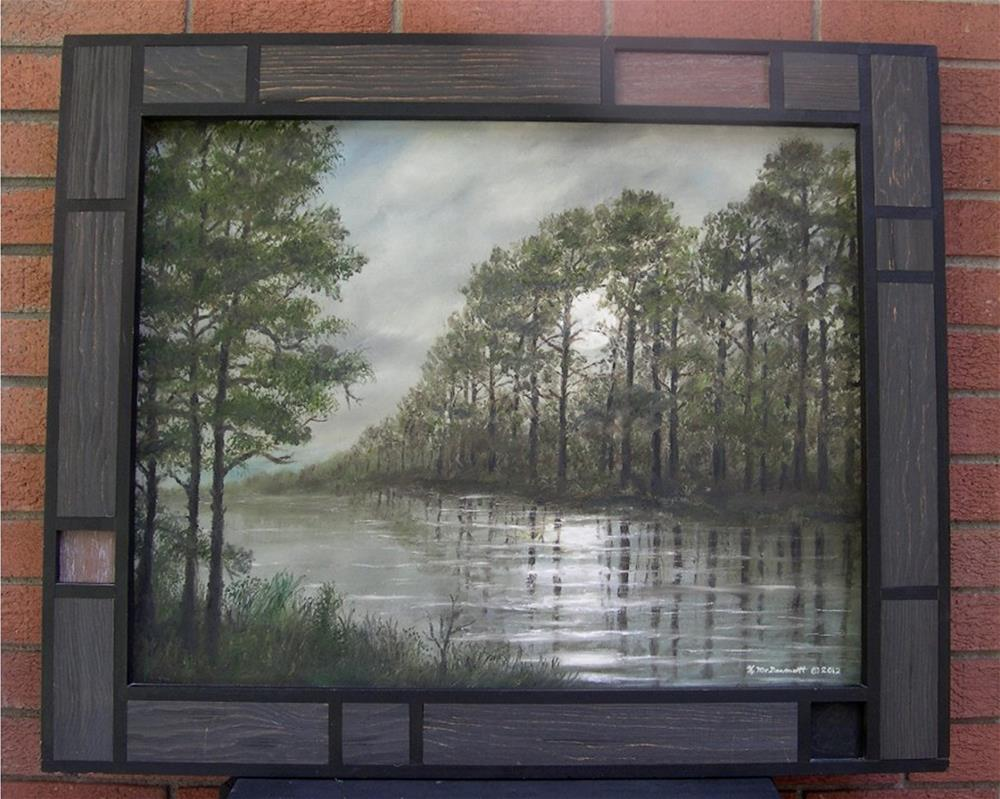 """""""Full Moon on the River (C) 2012 by K. McDermott"""" original fine art by Kathleen McDermott"""