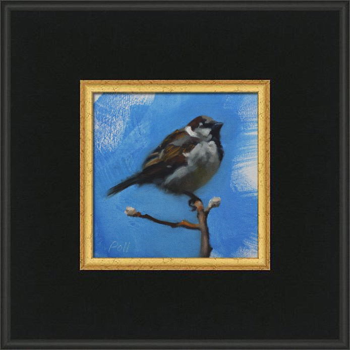 """Spring Sparrow"" original fine art by Pamela Poll"