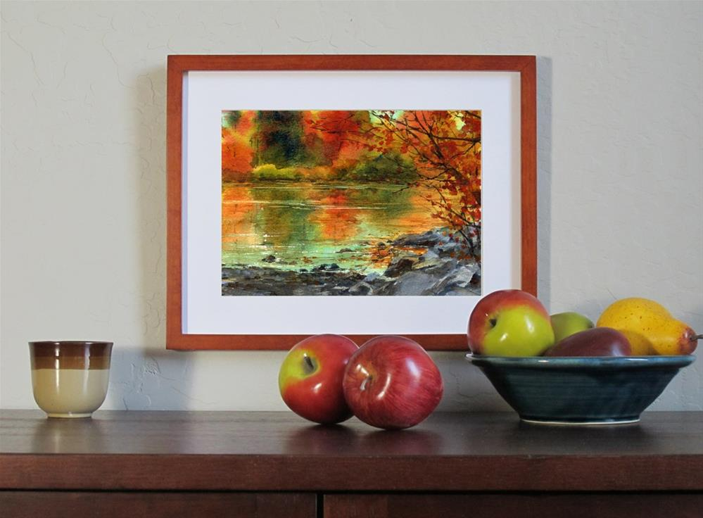 """Reflections of Gold"" original fine art by Linda Henry"