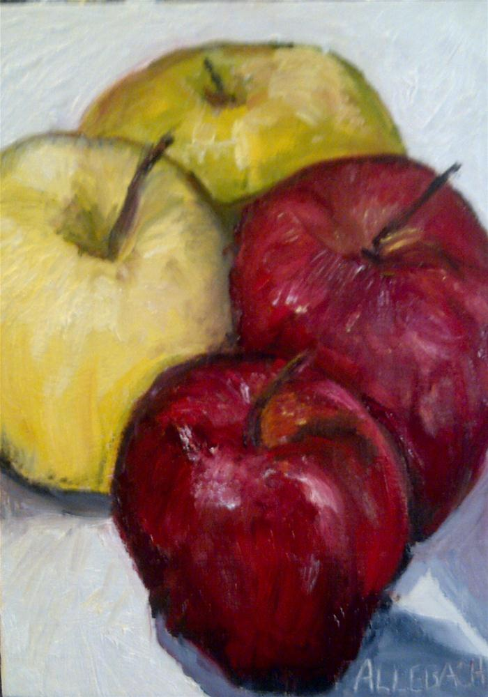 """ZigZag Apples"" original fine art by Jo Allebach"