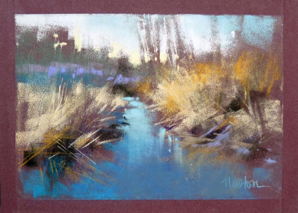 """Rock Creek Winter Series: #3"" original fine art by Barbara Benedetti Newton"