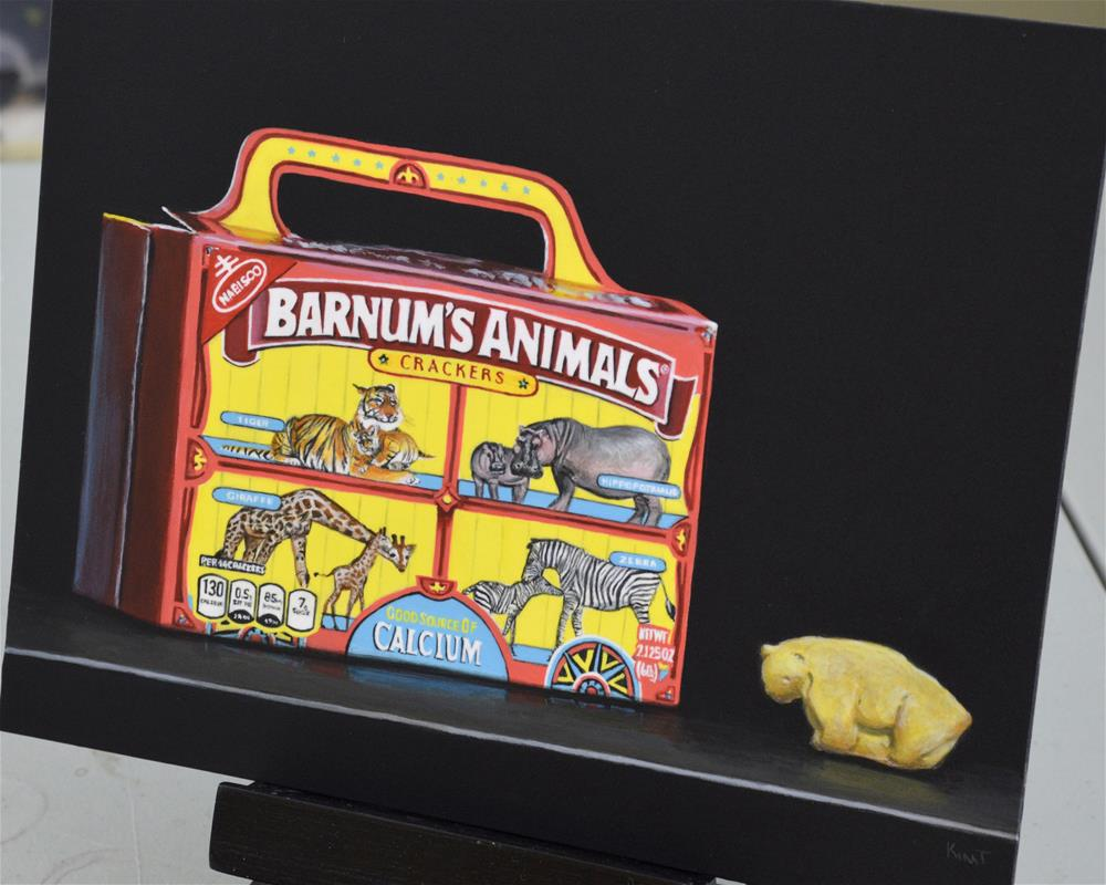 """Animal Crackers"" original fine art by Kim Testone"
