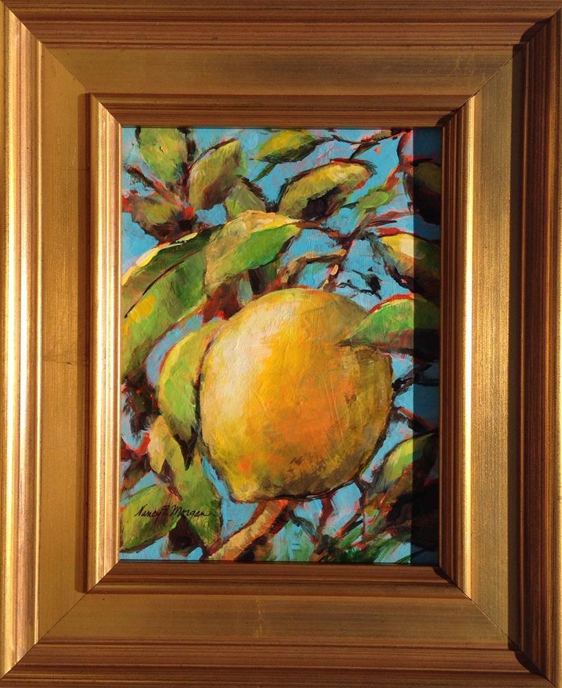 """""""Lemon Branches"""" original fine art by Nancy F. Morgan"""