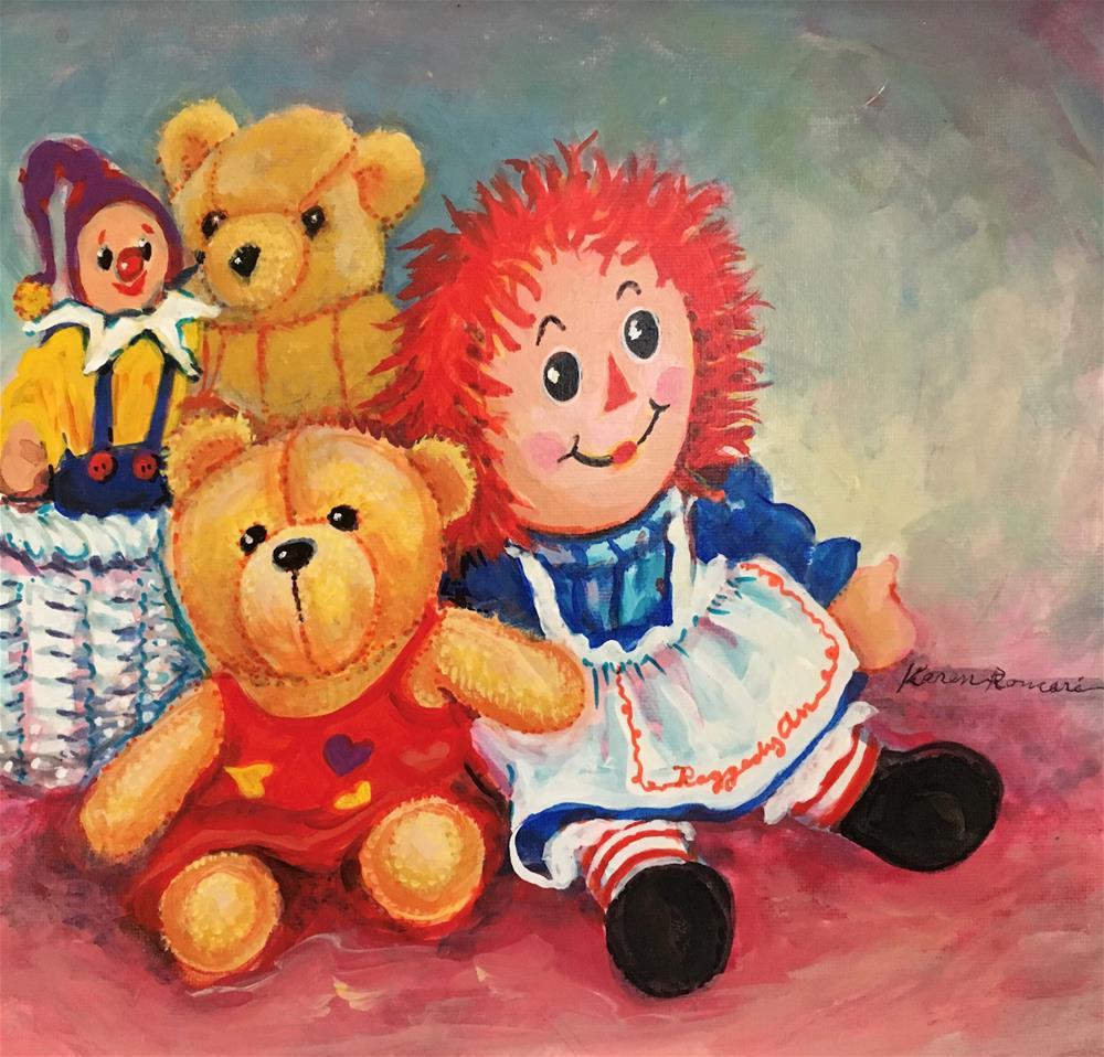 """The Toys"" original fine art by Karen Roncari"
