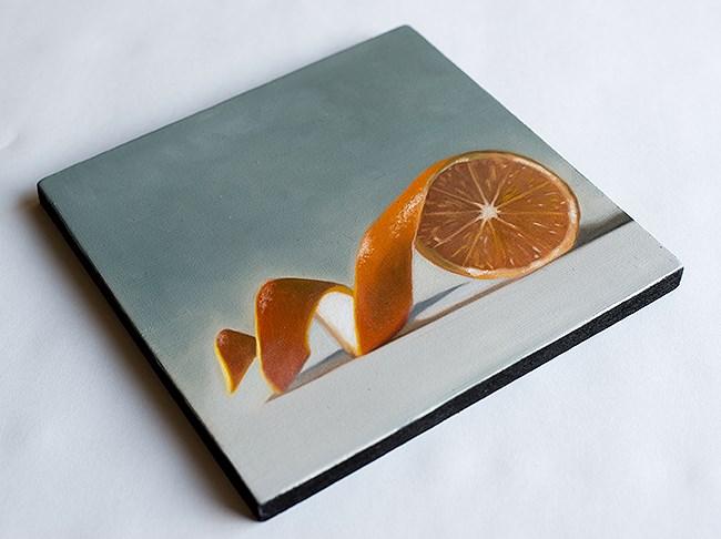 """Unwinding Orange"" original fine art by Lauren Pretorius"