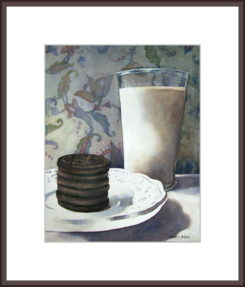 """Snack-time"" original fine art by Kara K. Bigda"