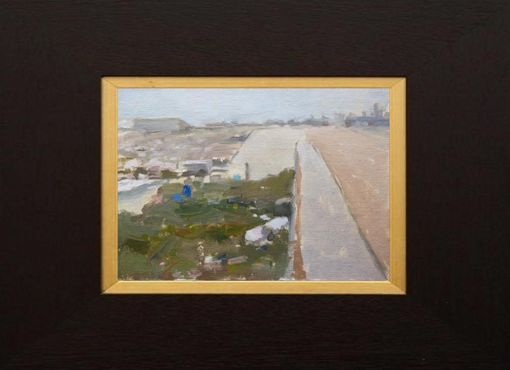 """Down the Seawall Framed"" original fine art by Randall Cogburn"