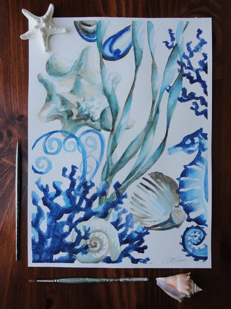 """Ocean Blue #2"" original fine art by Christine Blain"