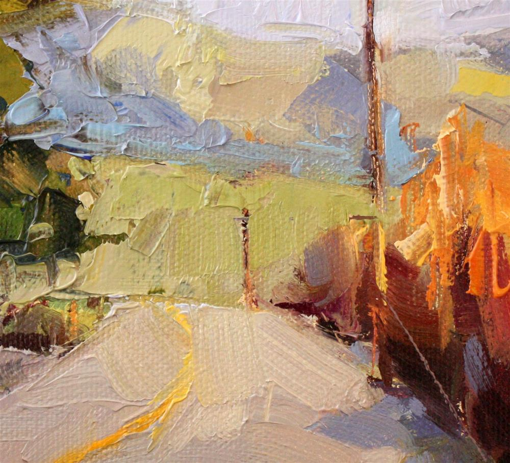 """Yvonne's Farm Road"" original fine art by Cathleen Rehfeld"