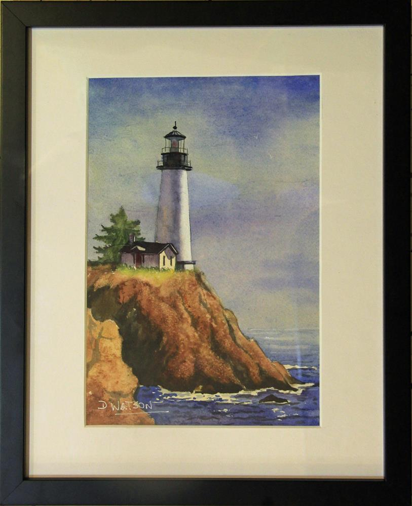 """Lighthouse"" original fine art by Deb Watson"