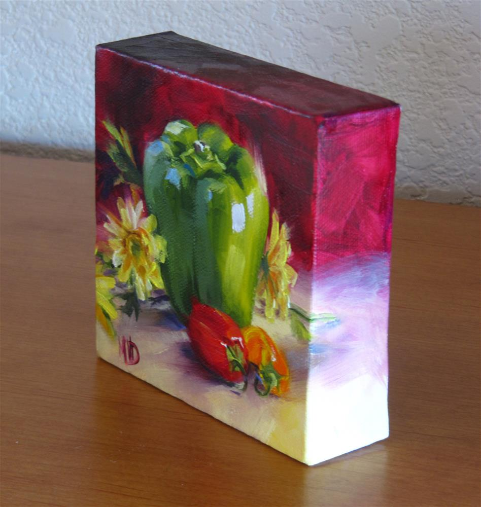 """""""Green Bell & Friends"""" original fine art by Mary Van Deman"""
