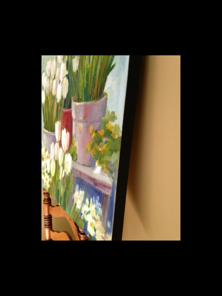 """White Tulips"" original fine art by Libby Anderson"