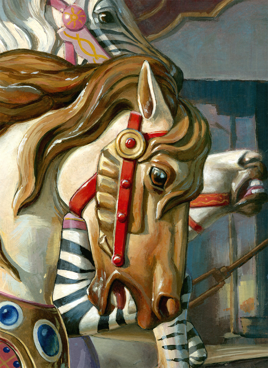 """By a Nose"" original fine art by Lesley Spanos"