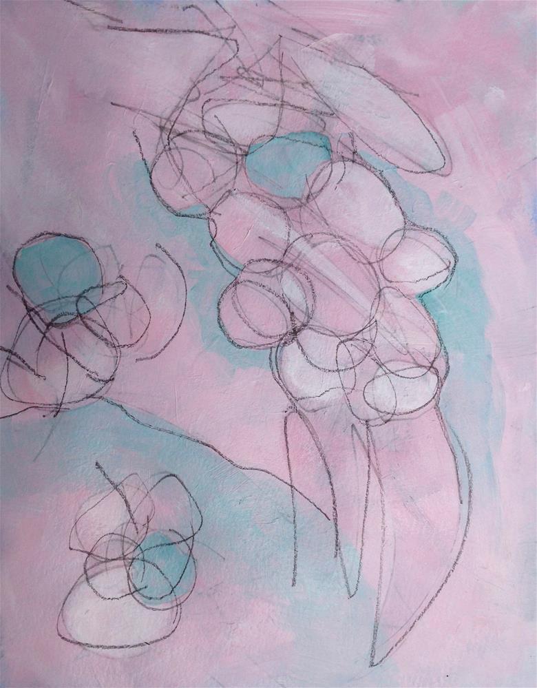 """""""UPDH, Pushing Its Weight Around"""" original fine art by Dotty  Seiter"""