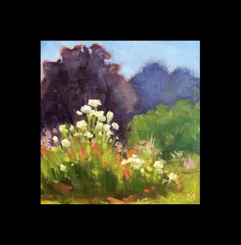 """View in the Rose Garden"" original fine art by Victoria  Biedron"