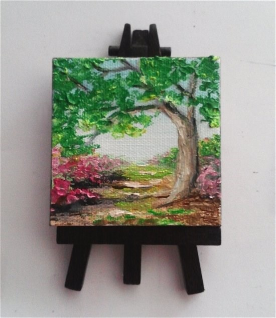"""Tree by Pathway"" original fine art by Camille Morgan"