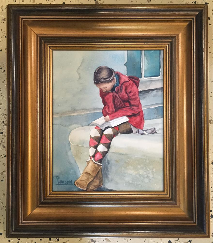 """School Girl"" original fine art by Deb Watson"