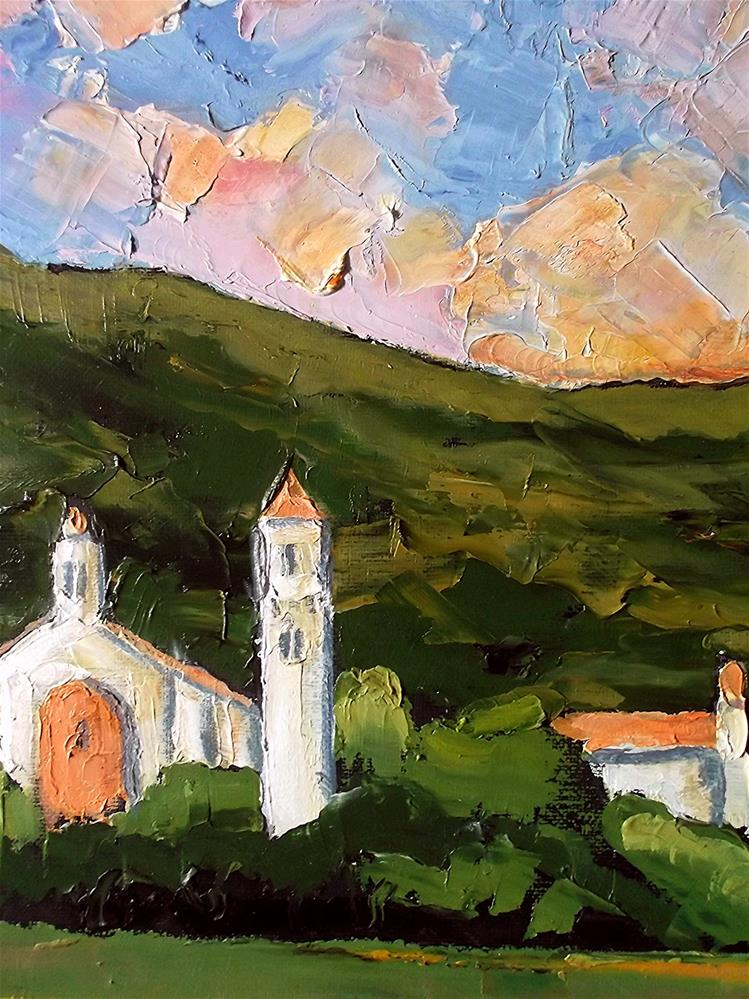"""California Carmelite Monastery"" original fine art by lynne french"