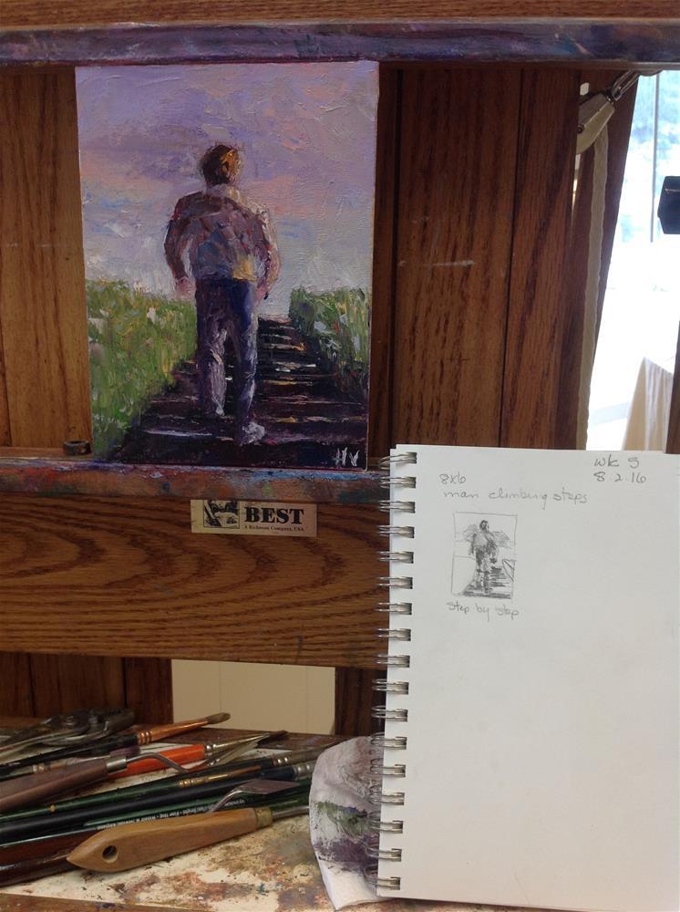 """Step by Step"" original fine art by Helen Viebrock Hamel"